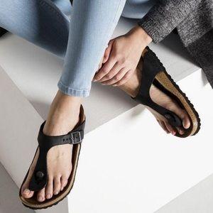 Birkenstock Gizeh leather thong w/box EUC 38